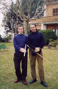 Il Maestro Antonio Merendoni con Archimede Tentindo